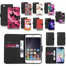 black pu leather wallet case cover for popular mobiles design ref a80