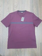 MEN'S BEN SHERMAN SHORT SLEEVE BURGUNDY CLASSIC '48505' T-SHIRT ALL SIZES M-4XL