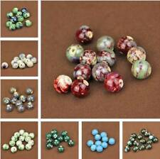 New 14mm Charms Round Ceramic Porcelain Loose Spacer Beads Jewelry Making 10pcs