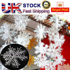 3/30 Christmas Gifts Party White Snowflake Charms Festival Ornaments Decoration
