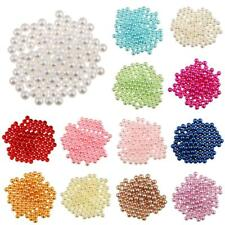 150x Imitation Pearl No Hole ABS Plastic Loose Beads Charm DIY Bead Findings