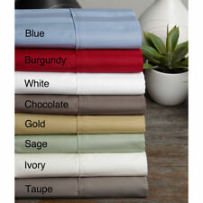 1000 TC 100%Egyptian Cotton Fitted Sheet /Flat Sheet UK Sizes All Striped Colors