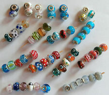 Faceted~ Lampwork Murano Glass European Charm Bracelet Beads~Beautiful hand made