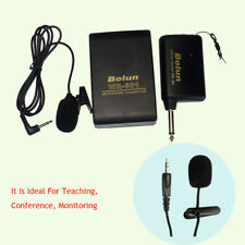 Mini Portable FM Transmitter Receiver Lavalier Lapel Clip Mic System With Mic