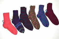 NEW Hand Knitted 100% Pure Soft Wool Women's Socks Different Sizes and Colors