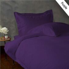 PURPLE SOLID 1000 TC EGYPTIAN COTTON BED DUVET SET/FITTED SHEET/SHEET SET