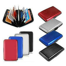 UK NEW Aluminum Aluma Wallet Credit Business Card Case Purse Holder Safety Metal