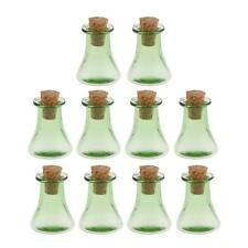 10Pc Triangle Cork Wishing Bottle Necklace Glass Bottle DIY Charm Pendants
