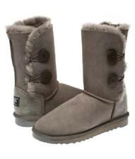 2 Button Australian Made Ugg Boots - Ladies Size/ Grey