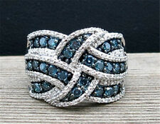 Classy Blue Sapphire  925 Silver Jewelry Wedding Engagement Party Ring Size 6-10