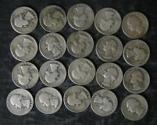 Lot: (20) 90% Silver Washington Quarters Coins, mixed dates - No Reserve