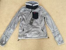 NWT Abercrombie & Fitch Womens Mountain Fleece Pop Over Jacket Grey Size: M & L