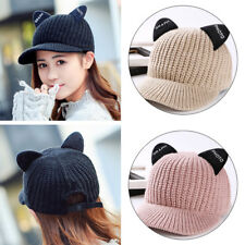 5-coulour Women  Cat ears Winter Hat Casual warm cap Knitted lovely Wool cap