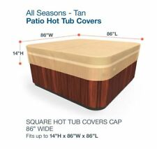 Budge All-Seasons Hot Square Tub Cover Protector 86x86in Outdoor Spa Jacuzzi