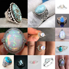 Magnificent Gemstone 925 Silver Woman Engagement Wedding Party Gift Ring Sz6-10
