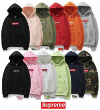 Top-rate! Mens SUPREME Hip Hop Hoodie Embroidered Cotton Sweater Men's pullover