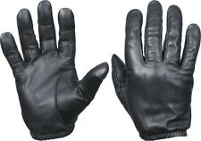Black Leather Active Police & Security Duty Search Gloves