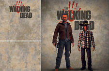 POSTER BACKDROP~THE WALKING DEAD~LOGO FOR 1/6 FIGURES CARL RICK GRIMES ZOMBIE