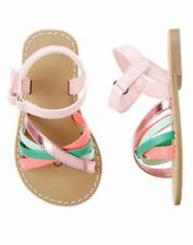 NWT Gymboree Island Cruise Tropical Strappy Sandals Shoes 6 9 toddler Girls