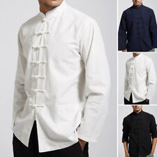 Men's Traditional Chinese Tang Suit Coat Retro Clothing Kung Fu Tai Chi Uniform