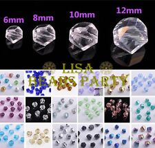 Wholesale Lots Twist Helix Faceted Loose Glass Spacer Beads 6mm/8mm/10mm/12mm