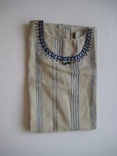 Handmade Beautiful Cotton Long Top with Embroidery at Neck Area New