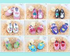 LEATHER INFANT BABY SHOES PREWALKER BOY GIRL SOFT SOLE TODDLER BOOTS NEW BORN