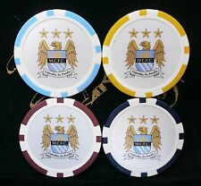 MANCHESTER CITY FC SKY BLUES CITIZENS POKER/CASINO CHIPS & CARD GUARD/PROTECTORS