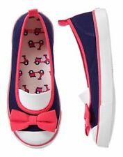 NWT Gymboree Ciao Puppy 9 10 11 13 2 Bow Sneakers Shoes Navy/Pink Girls