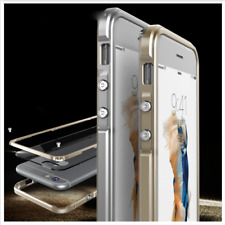 Luxury Aluminum Metal Bumper Clear Case Frame Cover For Apple iPhone 6S 7 8 Plus