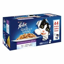 Felix As Good As It Looks Pouch In Jelly Wet Cat  Food Mega Pack 88 x 100g