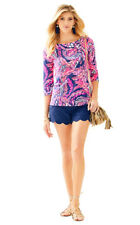 NWT Lilly Pulitzer Waverly Top 24285 Bright Navy A Jungle In Here Size M L