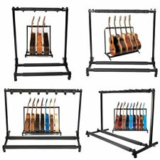 Multiple Guitar Folding Rack Storage Organizer Electric Acoustic Stand Holder OY