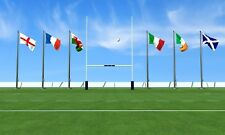 RUGBY 6 NATIONS FLAGS PACK & BUNTING ENGLAND IRELAND SCOTLAND WALES ITALY FRANCE