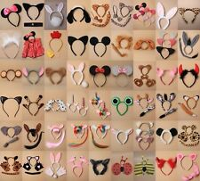 SET OF ANIMAL EARS, EARS & TAIL, SET; FANCY DRESS, HEN, BOOK DAY, COSTUME PARTY