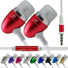 Stereo In-Ear Earbud Handsfree Aluminium Earphone for Archos 50f Helium Lite