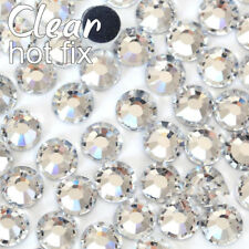 Clear Crystal DMC Hotfix Rhinestones Flatback Glass Iron On Hot Fix Rhinestones