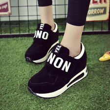 2018 FASHION Women's Lace Up Hidden Wedge High Top Sneakers Athletic Shoes HOT