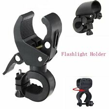 Bike Bicycle Cycling LED Lamp Torch Flashlight Mount Clamp Clip Bracket Holder