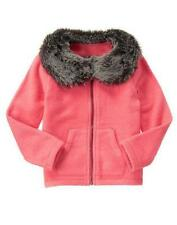 NWT Gymboree Girls Jacket Snowflake Fun Coral Fleece 5/6,7/8,10/12