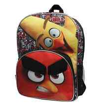New ANGRY BIRDS Boy's Backpack Canvas Book Bag Black Kids NWT