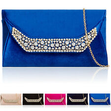 Ladies Evening Clutch Bridal Synthetic Diamante Gem Women Prom Party Wedding Bag