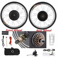 """26"""" Front Rear 36/48V Electric Bicycle Wheel Conversion SET Cycling Motor OY"""