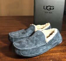 UGG Australia Men's Ascot Moccasin Slippers 5775 New Navy SIZE 10 Authentic New*