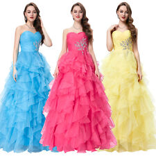 Hot Quinceanera Bridal Dresses Formal Prom Party Ball Gown Pageant Wedding Dress