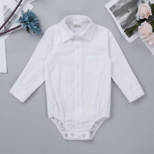 Infant Baby Boys Party Shirt Romper Jumpsuit Clothes Toddler Bodysuit Top Outfit