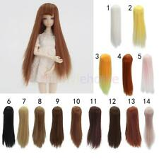 MagiDeal 20cm High-temperature Wire DIY Long Straight Hair Wig for Barbie Doll