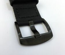 Quality Maratac Rubber Composite Diver Strap Watch Band Black PVD Buckle 22mm