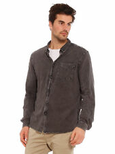 New Abrand Mens Long Sleeve Jersey Shirt In Black Acid Wash