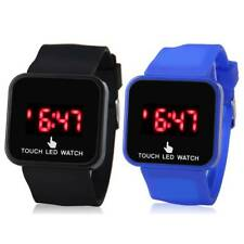 2 Color Unisex Electronic LED Digital Touch Screen Silicone Wrist Watch for Kids